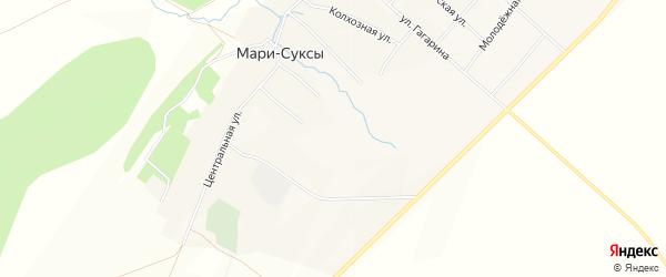 Карта села Мари-Суксы в Татарстане с улицами и номерами домов