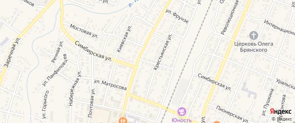 Симбирская улица на карте Абдулино с номерами домов