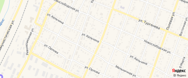 Улица Кельчина на карте Абдулино с номерами домов