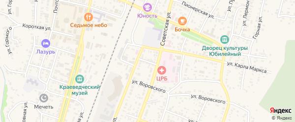 Лесная улица на карте Абдулино с номерами домов