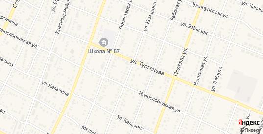 Улица Комарова в Абдулино с номерами домов на карте. Спутник и схема онлайн