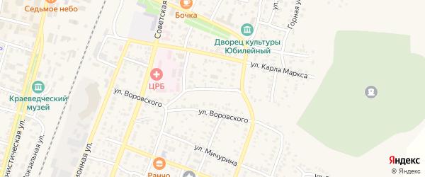 Молодогвардейская улица на карте Абдулино с номерами домов