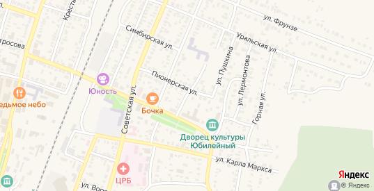 Улица Гоголя в Абдулино с номерами домов на карте. Спутник и схема онлайн