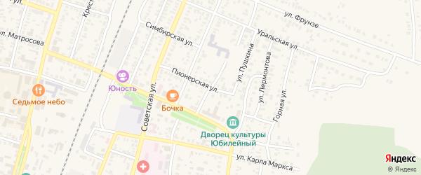 Улица Гоголя на карте Абдулино с номерами домов