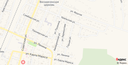 Улица Лермонтова в Абдулино с номерами домов на карте. Спутник и схема онлайн