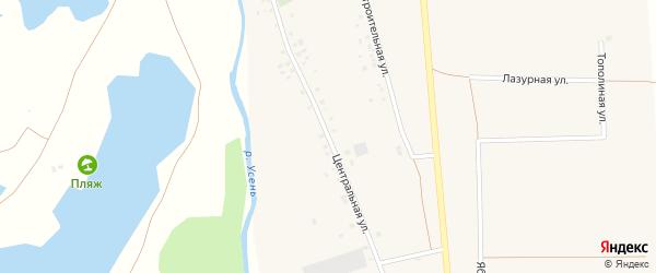 Центральная улица на карте деревни Исмаилово с номерами домов