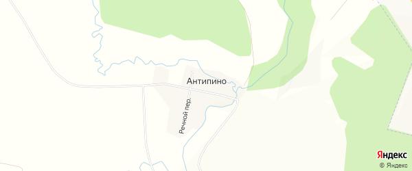 Карта деревни Антипино в Удмуртии с улицами и номерами домов