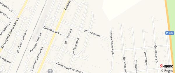 Краснознаменная улица на карте Абдулино с номерами домов