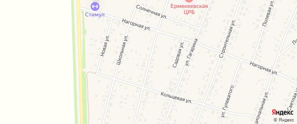 Садовая улица на карте села Ермекеево с номерами домов
