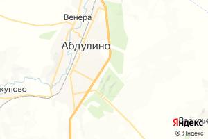 Карта г. Абдулино Оренбургская область