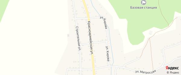 Красноармейская улица на карте села Нижнетроицкого Башкортостана с номерами домов