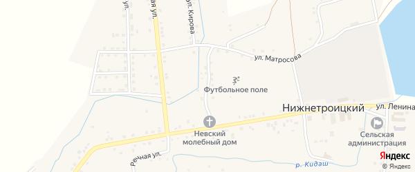 Улица Володарского на карте села Нижнетроицкого Башкортостана с номерами домов
