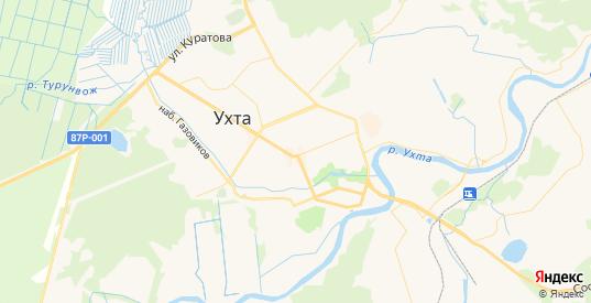 Карта Ухты с улицами и домами подробная. Показать со спутника номера домов онлайн