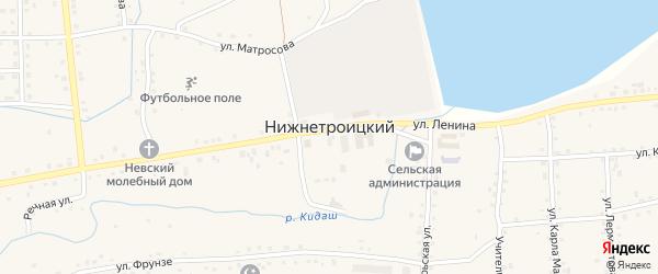 Улица Пушкина на карте села Нижнетроицкого Башкортостана с номерами домов