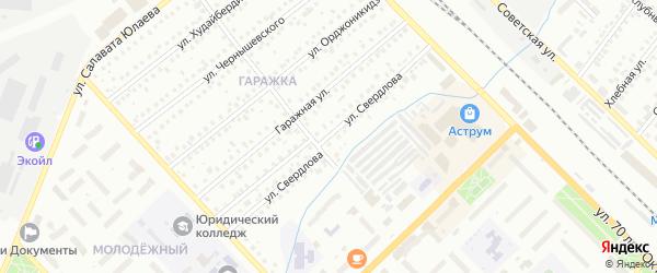 Улица Свердлова на карте Туймаз с номерами домов