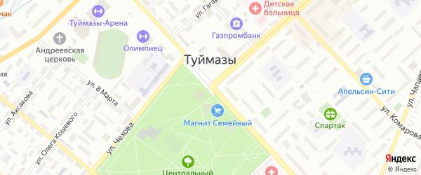 Переулок Якутова на карте Туймаз с номерами домов