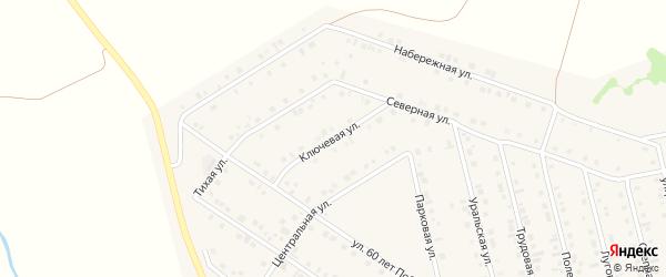 Ключевая улица на карте села Райманово с номерами домов
