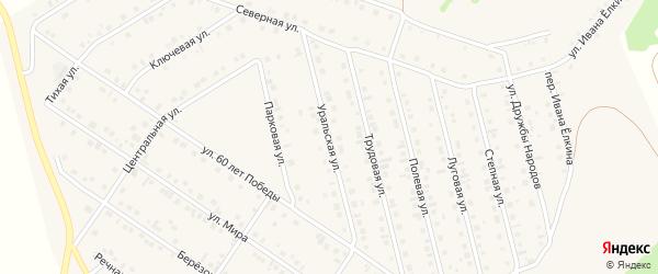 Уральская улица на карте села Райманово с номерами домов