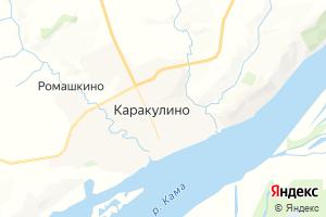 Карта с. Каракулино Удмуртская Республика