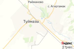 Карта г. Туймазы