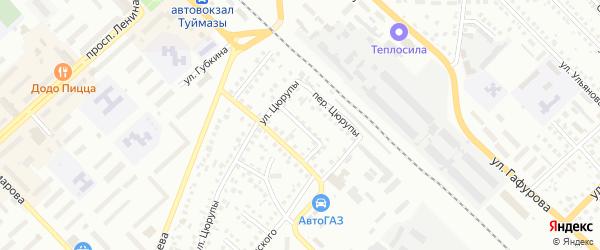 Мостовой 2-й переулок на карте Туймаз с номерами домов