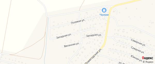 Западная улица на карте села Усть-Кулом Коми с номерами домов