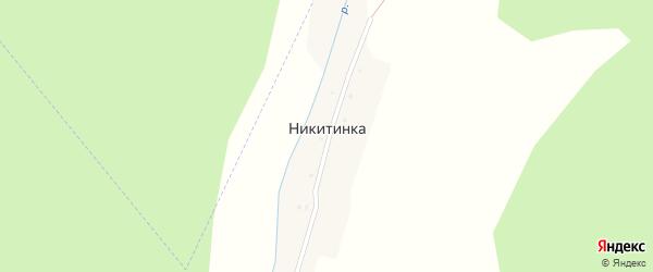 Центральная улица на карте деревни Никитинки с номерами домов