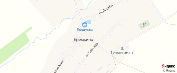 Улица Мира на карте села Еремкино с номерами домов