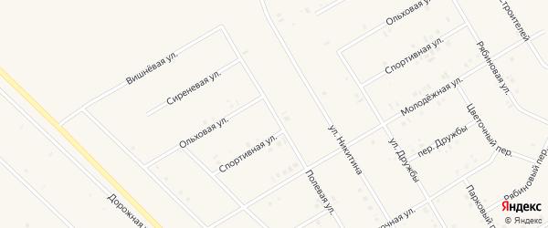 Полевая улица на карте села Бакалы Башкортостана с номерами домов