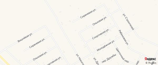 Улица Дружбы на карте села Бакалы Башкортостана с номерами домов