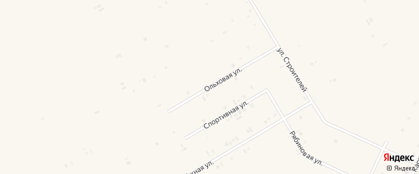 Ольховая улица на карте села Бакалы Башкортостана с номерами домов