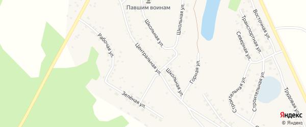 Центральная улица на карте села Серафимовский с номерами домов