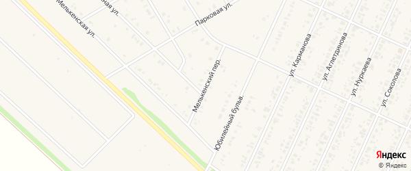 Мелькенский переулок на карте села Бакалы Башкортостана с номерами домов
