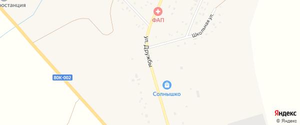 Улица Дружбы на карте села Зириклы с номерами домов
