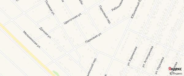 Парковая улица на карте села Бакалы Башкортостана с номерами домов