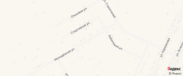 Молодежная улица на карте села Бакалы Башкортостана с номерами домов
