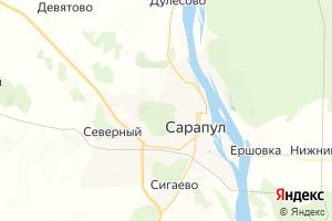 Карта г. Сарапул Удмуртская Республика
