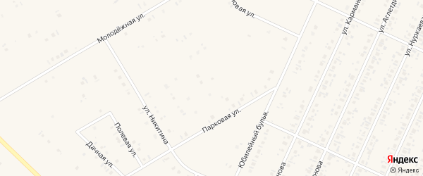 Парковый переулок на карте села Бакалы Башкортостана с номерами домов