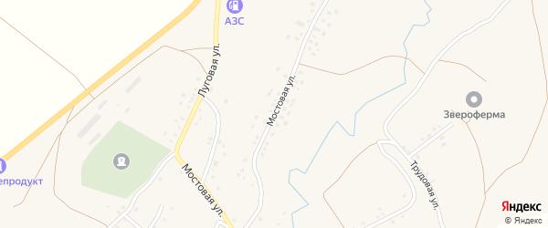Мостовая улица на карте села Зириклы Башкортостана с номерами домов