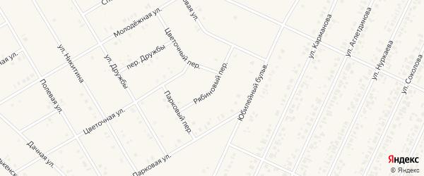 Рябиновый переулок на карте села Бакалы Башкортостана с номерами домов
