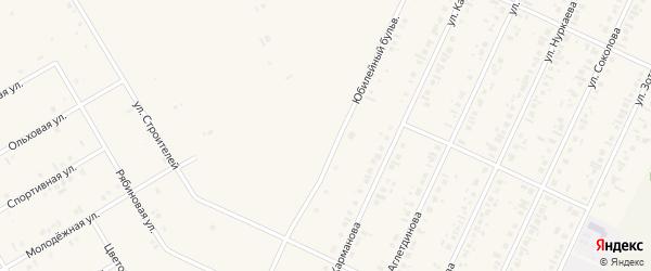 Юбилейный бульвар на карте села Бакалы Башкортостана с номерами домов