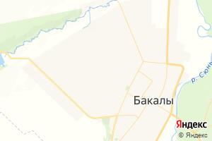 Карта с. Бакалы Республика Башкортостан