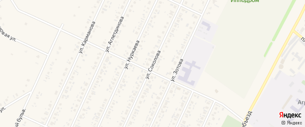 Улица Соколова на карте села Бакалы Башкортостана с номерами домов