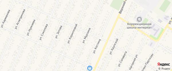 Улица Мурзина на карте села Бакалы Башкортостана с номерами домов