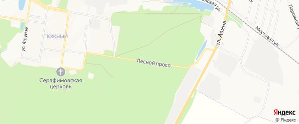 ГСК Лесной проспект на карте Сарапула с номерами домов