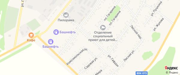 Улица Гафури на карте села Бакалы Башкортостана с номерами домов