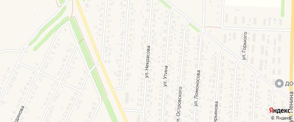 Улица Некрасова на карте села Бакалы с номерами домов