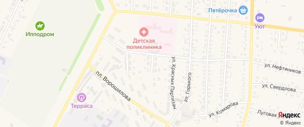 Улица Аксакова на карте села Бакалы Башкортостана с номерами домов