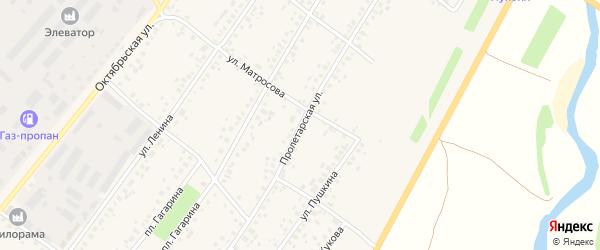 Пролетарская улица на карте села Бакалы Башкортостана с номерами домов