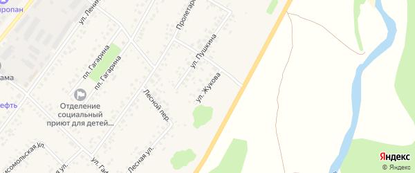 Улица Жукова на карте села Бакалы Башкортостана с номерами домов